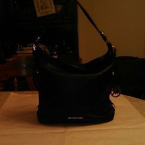 Michael Kors medium black leather shoulder bag